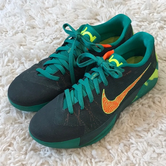the best attitude 5a6b4 0d2ff NIKE KD TREY 5 II FLYWIRE EMERALD ORANGE SNEAKERS.  M 5b29308eaa5719d6c3b09d22